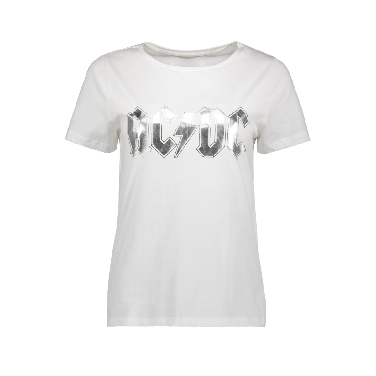 nmac nate s/s  top 27010334 noisy may t-shirt bright white/acdc in  fo