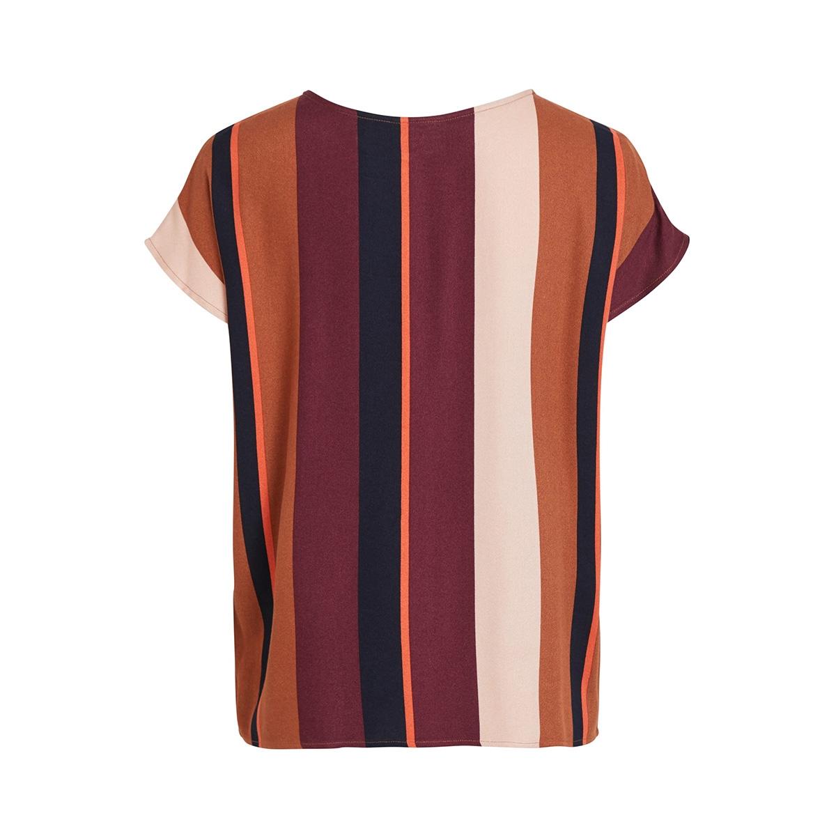 objesme urban s/s top 105 div 23031599 object t-shirt brown patina/striped