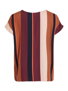 objesme urban s/s top 105 div 23031599 object t-shirt brown patina/striped