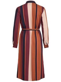 objesme  l/s long shirt 105 23030900 object jurk brown patina/stripes