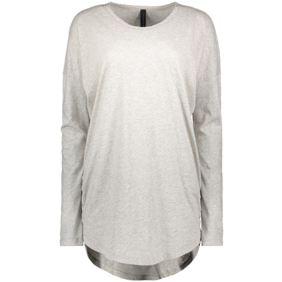 loose fit long tee 20 782 9103 10 days t-shirt light grey melee