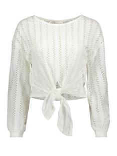 vipiline l/s t-shirt/2 14057286 vila t-shirt cloud dancer