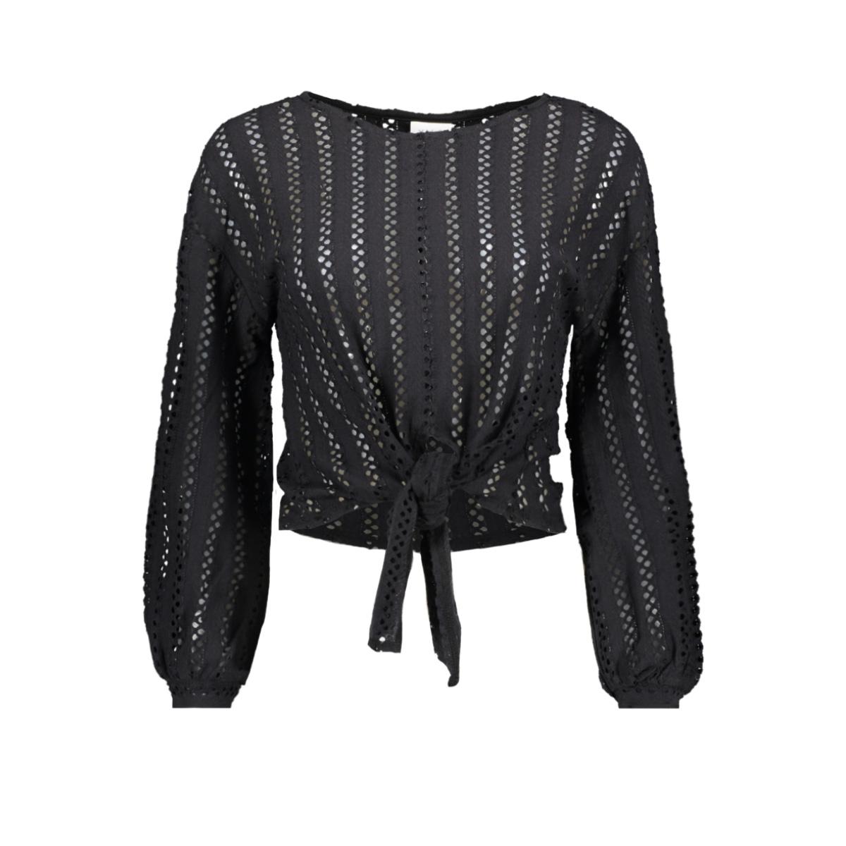 vipiline l/s t-shirt/2 14057286 vila t-shirt black