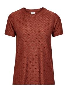 Jacqueline de Yong T-shirt JDYCATHINKA S/S TAG TOP JRS RPT 1 15200907 Smoked Paprika