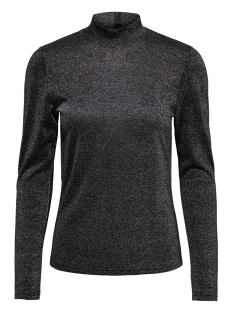 Only T-shirt ONYGLADYS L/S HIGH NECK GLITTER TOP 15185629 Black/SILVER
