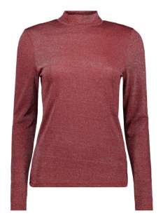 Only T-shirt ONYGLADYS L/S HIGH NECK GLITTER TOP 15185629 Merlot/SILVER