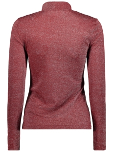 onygladys l/s high neck glitter top 15185629 only t-shirt merlot/silver