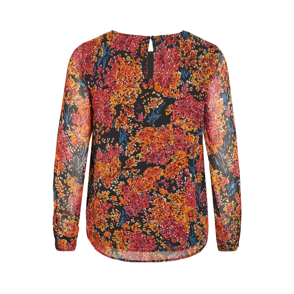 objelva l/s top 106 div 23031913 object blouse black/autumn flower