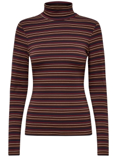 onllive love l/s roll neck top jrs 15189368 only t-shirt bitter chocolate/western