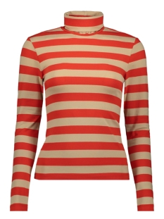 Only T-shirt ONLLIVE LOVE L/S ROLL NECK TOP JRS 15189368 Fiery Red/DANDY