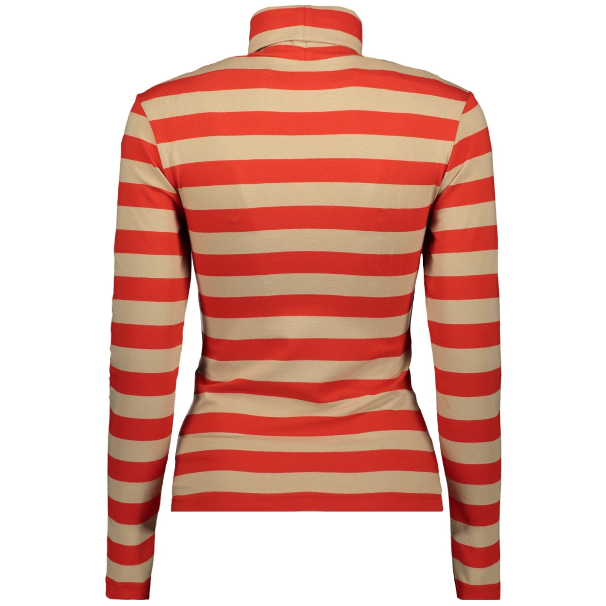 onllive love l/s roll neck top jrs 15189368 only t-shirt fiery red/dandy