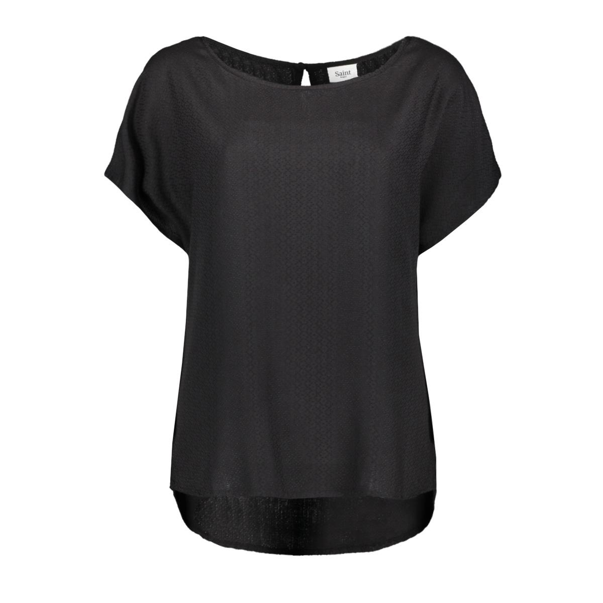 zwarte blouse u1045 saint tropez t-shirt 0001