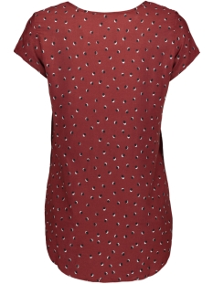 vmboca ss blouse multi aop 10132802 vero moda t-shirt madder brown/fie