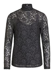 Vila T-shirt VIVISTIN L/S TOP/KI 14054547 Black/W. SILVER