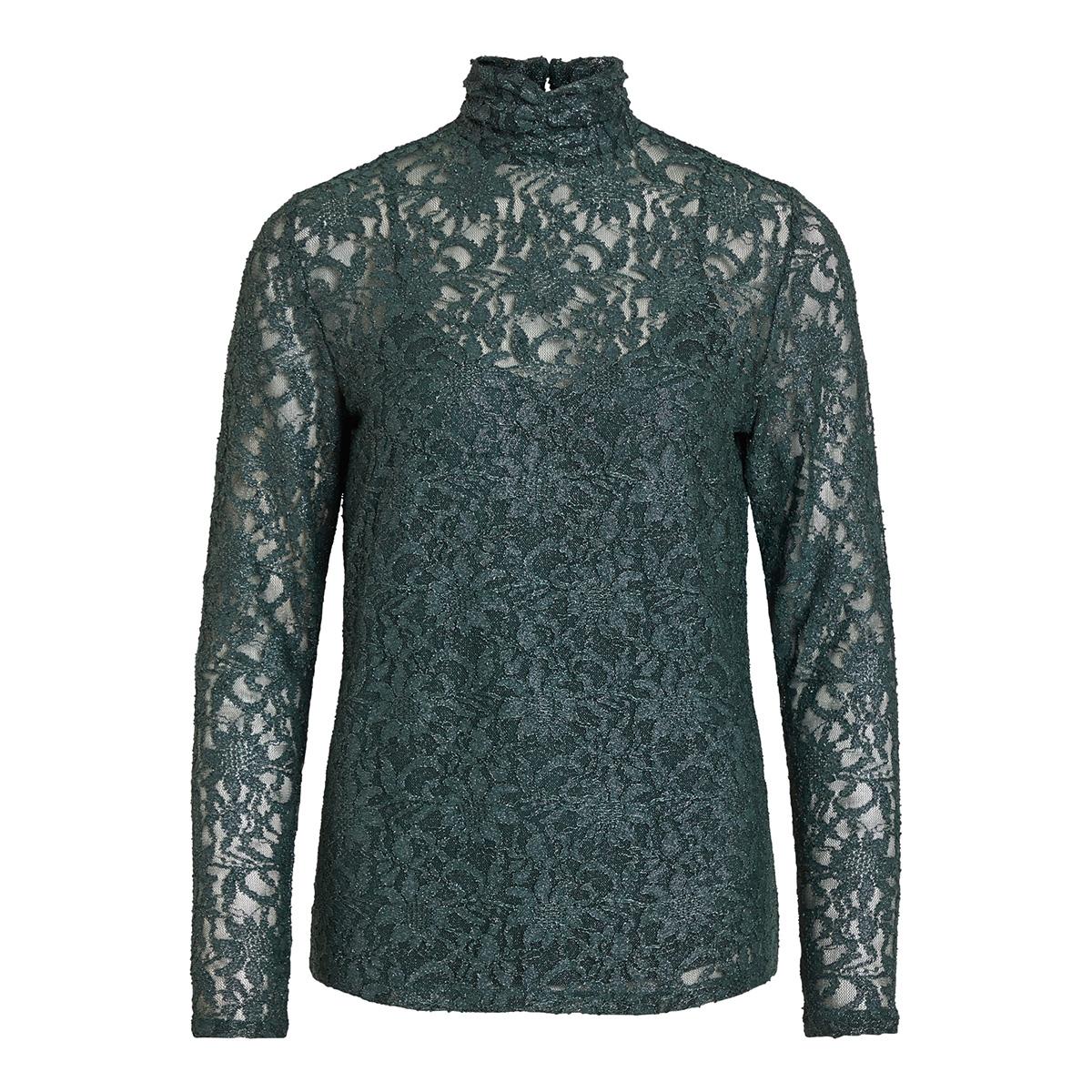 vivistin l/s top/ki 14054547 vila t-shirt pine grove/w. silver