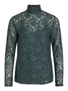 Vila T-shirt VIVISTIN L/S TOP/KI 14054547 Pine Grove/W. SILVER