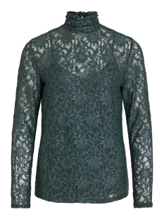 vivistin l/s top/ki 14054547 vila blouse pine grove/w. silver