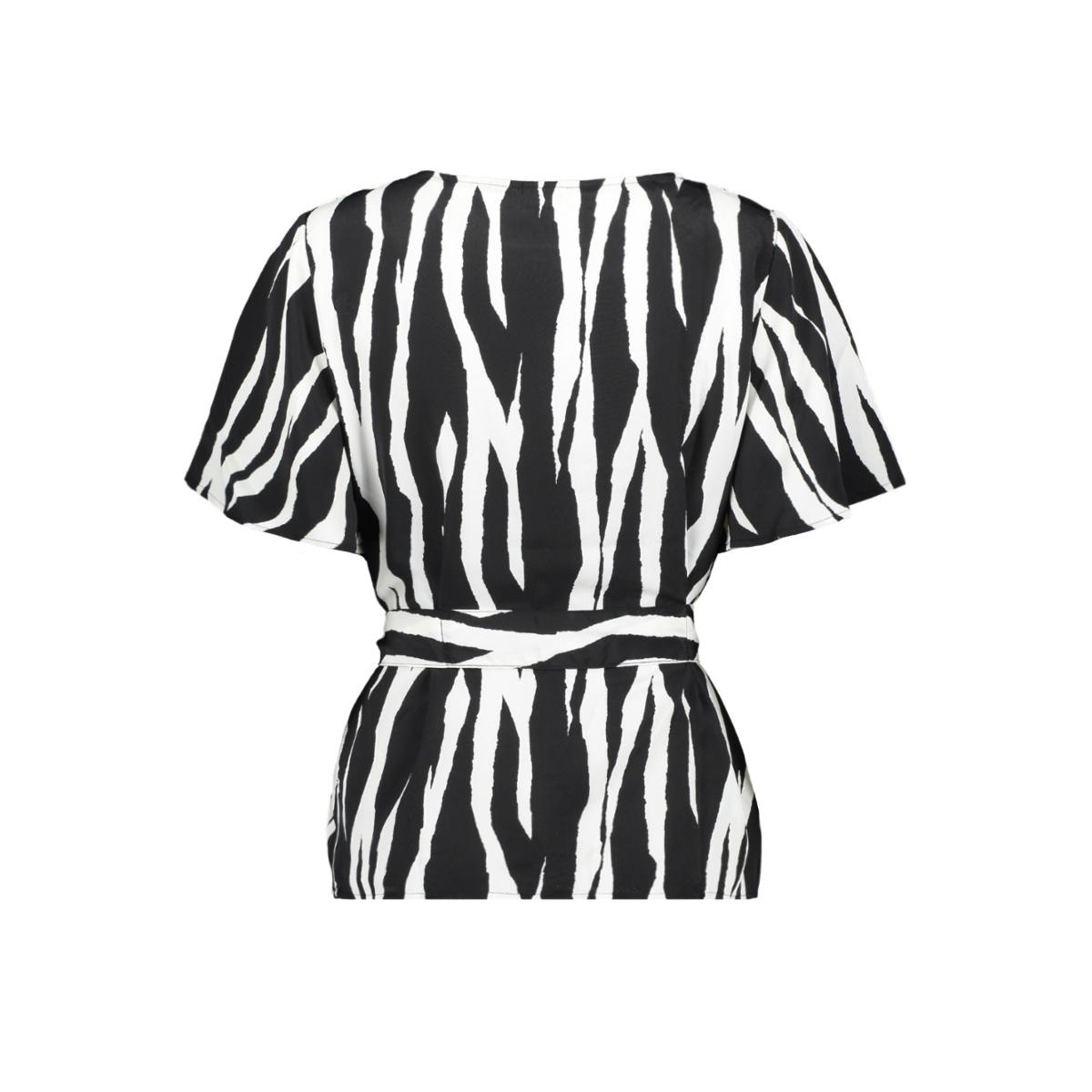 jdydana s/s front tie top wvn 15198859 jacqueline de yong blouse black/zebra