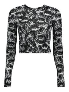 nmfestive l/s top 7 27009175 noisy may t-shirt black/paint