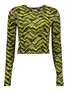 nmfestive l/s top 7 27009175 noisy may t-shirt evening primrose/animal