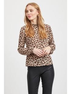 visaffaanimala l/s top 14054028 vila blouse tigers eye/leoprint