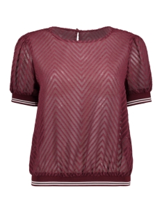 onllina s/s cropped tee top wvn 15187248 only blouse tawny port