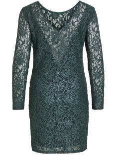 vivistin l/s dress/ki 14054549 vila jurk pine grove/w. silver