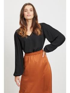 viculta l/s top/ki 14054032 vila blouse black