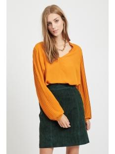 viculta l/s top/ki 14054032 vila blouse golden oak