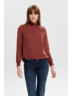onlnew kayla l/s top noos wvn 15190950 only blouse henna