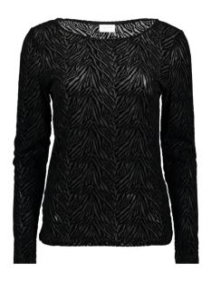 Vila T-shirt VISEBRA L/S TOP 14055022 Black/ZEBRA