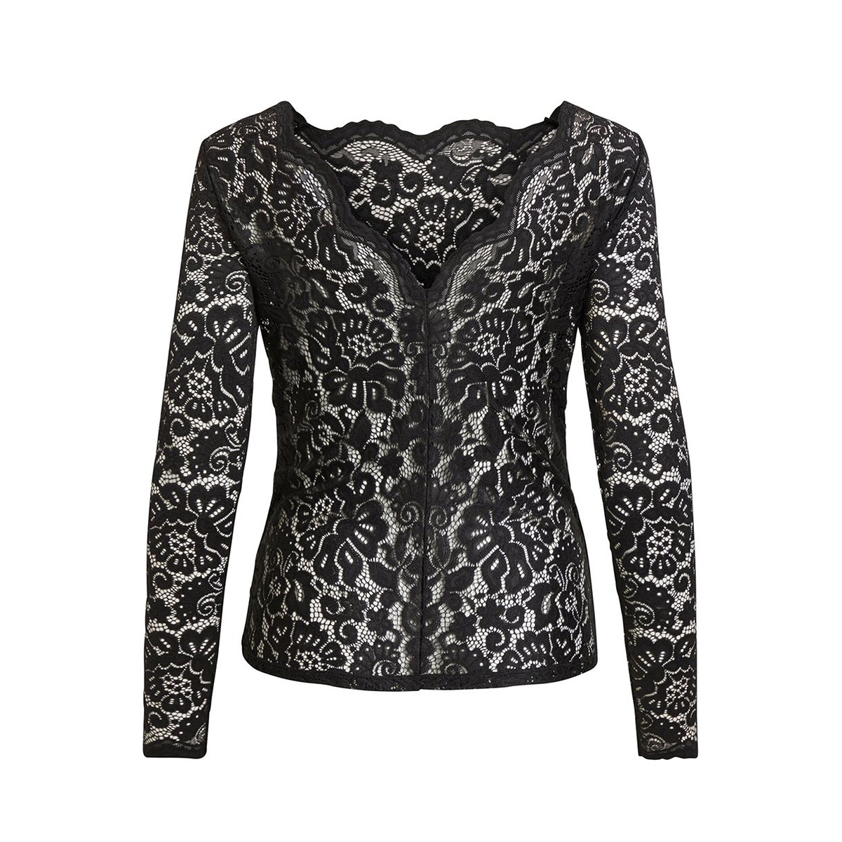 viellis l/s top/tb 14054868 vila blouse black