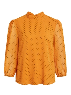 Vila Blouse VIBOWLYS 3/4 TOP 14054021 Golden Oak/BLACK DOTS