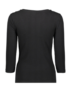 onlelina 3/4 button jrs 15189356 only t-shirt black