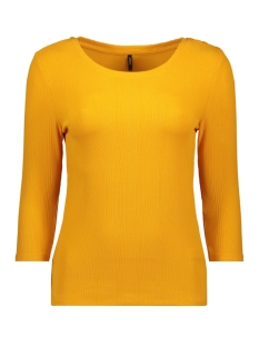onlelina 3/4 button jrs 15189356 only t-shirt cadmium yellow