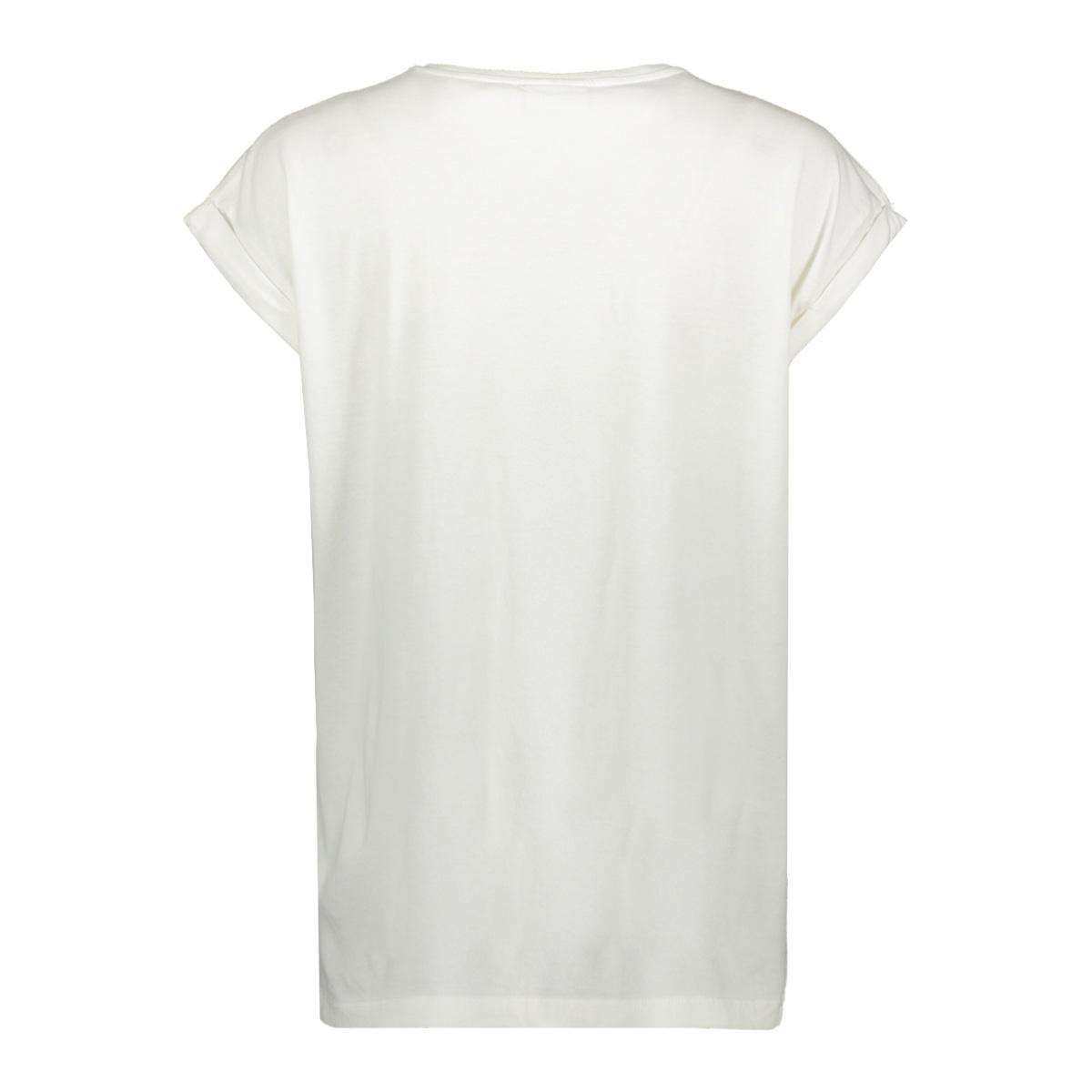 visanas glitter s/s t-shirt 14057526 vila t-shirt cloud dancer