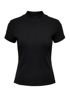Only T-shirt ONLNITTA S/S MOCK NECK TOP CS 2 JRS 15201375 Black