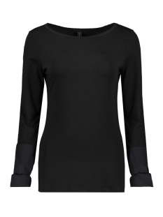 10 Days T-shirt BOATNECK TEE POPLIN 20 778 9103 BLACK