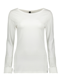 10 Days T-shirt BOATNECK TEE POPLIN 20 778 9103 WHITE