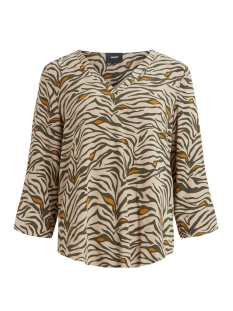 Object Blouse OBJBAY 3/4 TOP AOP SEASONAL 23028469 Humus