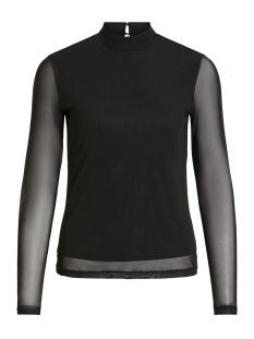 Vila T-shirt VIMESHA L/S TOP 14056668 Black/SOLID
