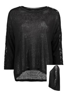 Only T-shirt ONLRIE 3/4 LACE TOP JRS 15189621 Black