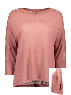 Only T-shirt ONLRIE 3/4 LACE TOP JRS 15189621 Apple Butter