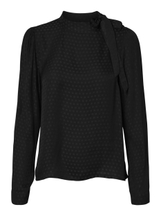 vmerina l/s bow top wvn 10222052 vero moda blouse black