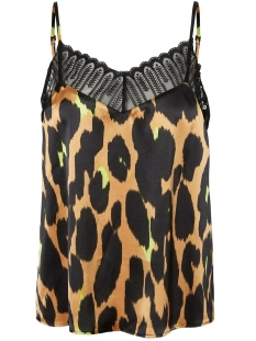 Noisy may Top NMMAX S/L LACE TOP 27009838 Brown Sugar/LEO AOP