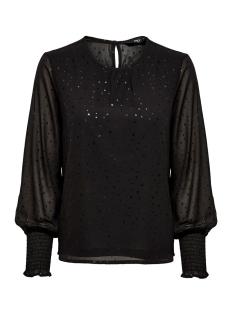 Only Blouse ONLDOT  L/S TOP WVN 15194000 Black/W. BLACK FOIL