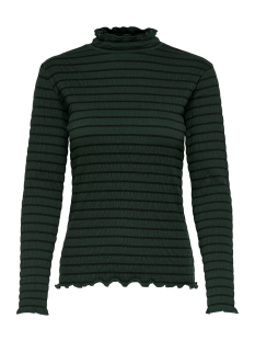 jdyshilda l/s highneck top jrs 15187978 jacqueline de yong t-shirt scarab/stripe