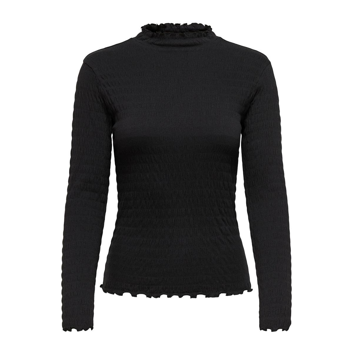 jdyshilda l/s highneck top jrs 15187978 jacqueline de yong t-shirt black/stripe