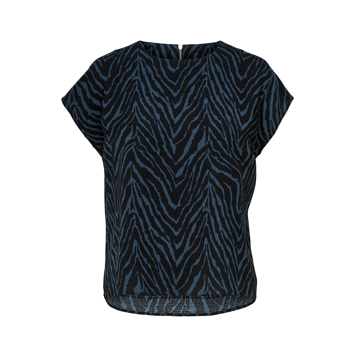 jdylucy s/s zip top denim wvn 15185148 jacqueline de yong t-shirt black/dark denim