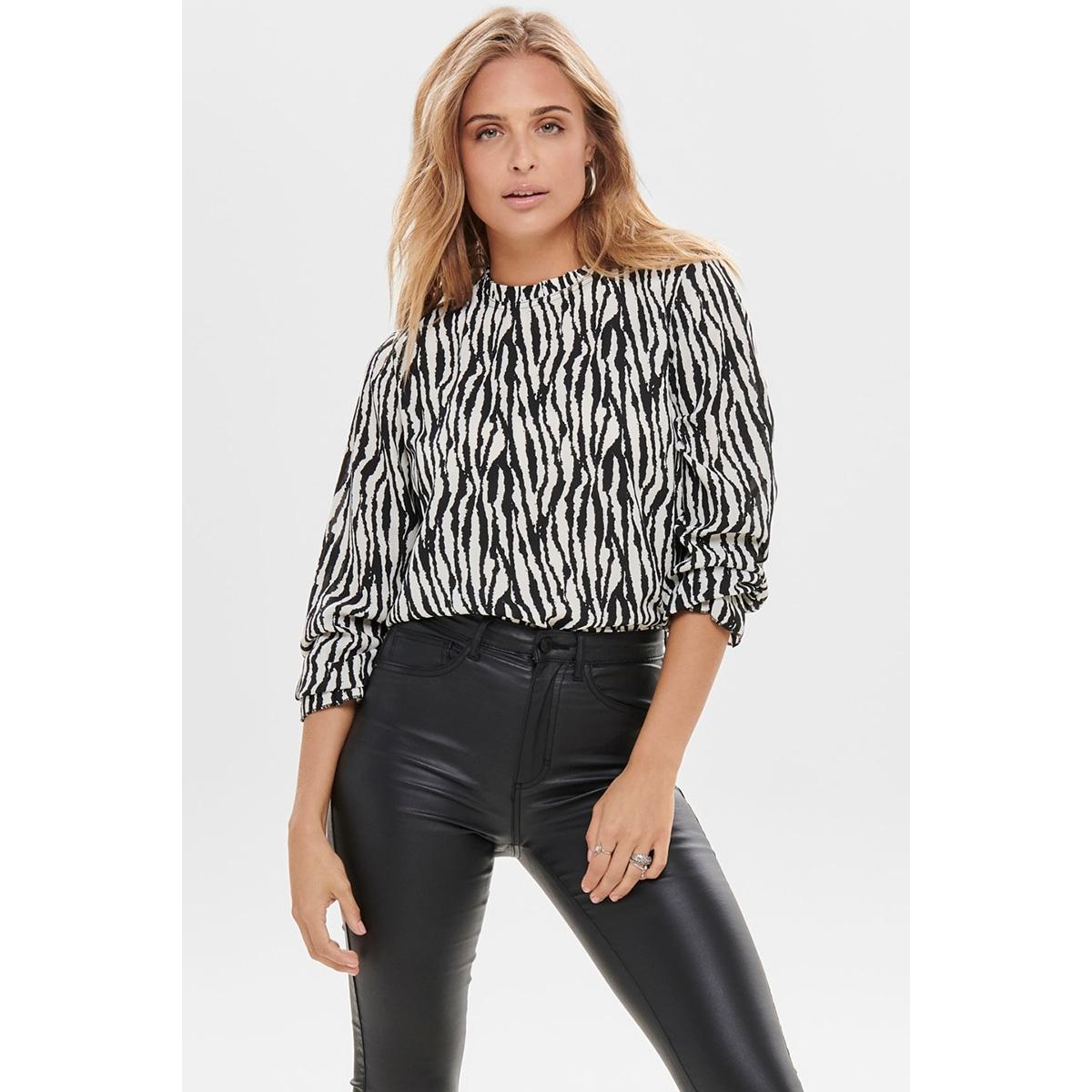 jdyjade l/s top wvn 15198847 jacqueline de yong blouse black/zebra